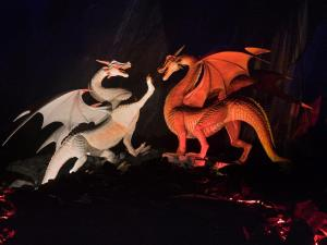 The dragons fighting beneath Dinas Emrys