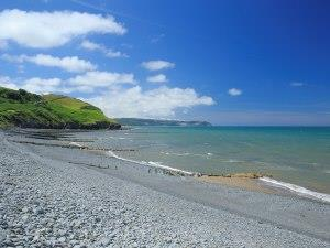 Aberaeron South Beach: Image Credit Janet Baxter