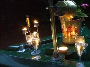 Have a romantic drink on a canalboat