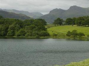 Langdale from Loughrigg Tarn