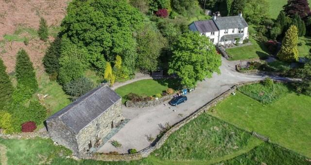 Aerial shot of Brackenrigg Holiday Cottages