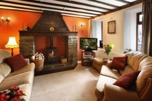 Hafod Y Wennol Lounge with Wood Burning Stove