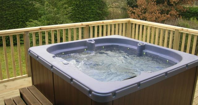 Hot Tub at Powys Holidays